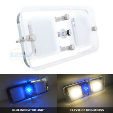 12V LED Crystal Panel Ceiling Light Warm W RV Motorhome Boat Interior Roof Lamp