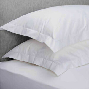 NEW 400 THREAD COUNT HOTEL QUALITY PREMIUM 100% COTTON PILLOW CASES PAIR PACK