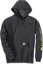 Carhartt Midweight Sleeve Logo Hooded Sweatshirt M blau