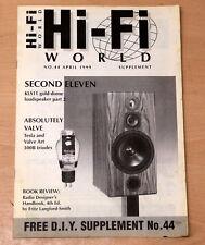 Hi-Fi World fai da te supplemento APRILE 1999 N. 44 KLS11 PART 2 Loud Altoparlante Kit