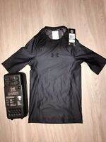 UNDER ARMOUR Men's UA Charged Compression Short Sleeve Shirt $99 RECOVERY LARGE