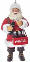 Santa Claus Opening Bottle of Coca-Cola Christmas Ornament BRAND NEW