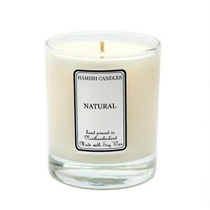 Natural - Fragrance Free - Personalised Soy Wax Candle - 20cl