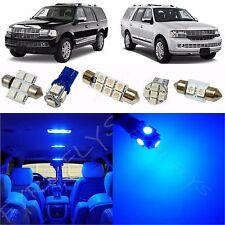 15x Blue LED lights interior package kit for 2007-2013 Lincoln Navigator LN1B