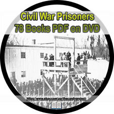 Civil War Prisoners 78 Books Andersonville Confederate Rebels Union DVD