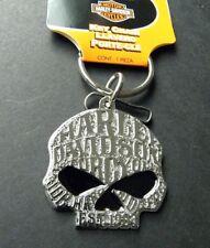 Harley Davidson Willie G Sugar Skull Key Ring Keychain Keyring 1.75 x 1.5 inches