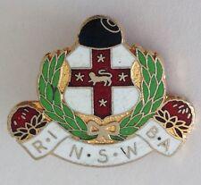 NSW Railway Institute Bowling Club Badge Rare Vintage Train (M11)