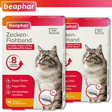 Beaphar 2 X Tick & Flea Collar for Cats White 35 CM 8 Months Effective Sos