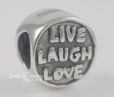 LIVE LAUGH LOVE Genuine 925 STERLING SILVER Bead FRIENDS European Charm NEW