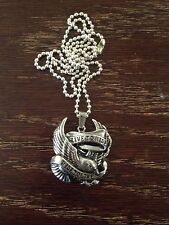 New Live to Ride-Ride to Live Eagle Necklace with Ball Chain