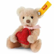 Steiff Teddy Bear with Heart, mohair, mini, EAN 028915