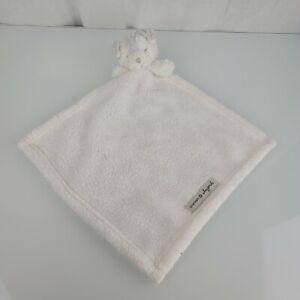 Blankets & Beyond Baby White Gray Puppy Dog Plush Security Eyes Closed Shut