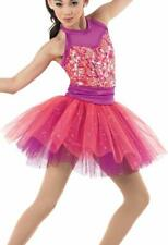 Dance Tutu Medium Child Pink Plum Glitter Pointe Ballet Tap Jazz Class Practice