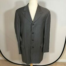 Steve Harvey Collection Men Blazer Jacket Size 46XL Sport Coat Grey Stripes C215