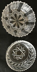 2 Beautiful Glass Cup Bowls 5 7/8x2in And 5 1/2x2 3/16in Pattern