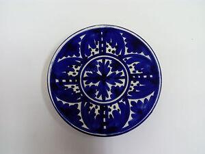 Antique Saucer Plate Of Ceramic Talavera Sealed Valero 14,50cm Ø