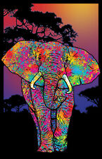 ELEPHANT PAINTED - BLACKLIGHT POSTER - 24X36 FLOCKED 19882