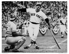 11x14 PHOTO: LUIS TIANT BATS 1975 WORLD SERIES JOHNNY BENCH CATCHER RED SOX REDS