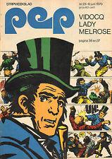 PEP 1970  nr. 23 - VIDOCQ (COVER HANS G. KRESSE)/GEORGE BAKER/BLAUW WIT (POSTER)