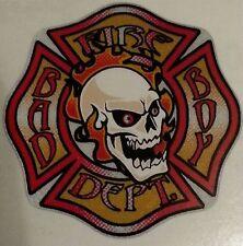 "Fire Dept., Firefighter, Bad Boy Skull Decal, 3.75"" Reflective  #FD76"