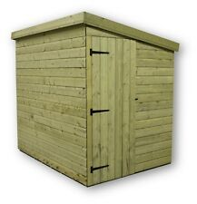 6X6 GARDEN SHED SHIPLAP  PENT ROOF TANALISED PRESSURE TREATED DOOR RIGHT END