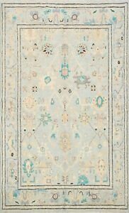 Vegetable Dye Hand-knotted Authentic Oushak Turkish Oriental Area Rug Wool 5x7