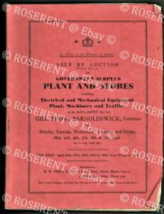 1948 auction of Minirty of Supply - Gill Brow - Barnoldswick - Plant & Stores