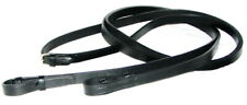 """Fss Sedgwick English Leather Plain Flat Smooth Curb Reins Double Bridle 5/8""""16mm"""