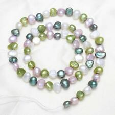 Fashion Baroque Freshwater Pearl 5-6mm Loose Beads Charm Multicolor fit Necklace