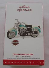 Hallmark 2015 Harley Davidson 1958 FLH Duo-Glide Motorcycle Christmas Ornament