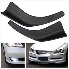 2 Pcs Black Polyurethane Autos Body Splitter Diffuser Bumper Canard Lip Fin Chin