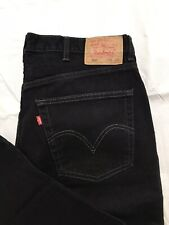 Levis 550 Relaxed Fit Tapered Leg Jeans Mens 38x29 Black Denim Red Tab 5 Pocket