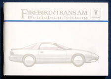 Owner's Manual * Betriebsanleitung 1995 Pontiac Firebird Trans Am (D)