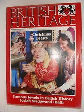 British Heritage Magazine Dec 1984 Jan 1985 Josiah Wedgewood Bath Famous Jewels
