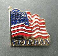 USA FLAG US VETERAN VET PATRIOTIC LAPEL PIN BADGE 1.1 INCHES