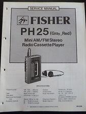 Original Service Manual  Fisher PH25