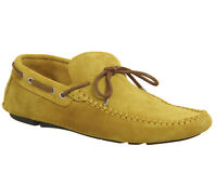 Mens Office Bounty Driver Mustard Suede Casual Shoes