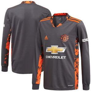 Manchester United Home Goalkeeper Football Shirt 2020-21 Adidas - Kids