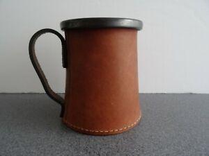 Hide Bound Leather Drinking Vessel Inc Ceramic Mug Tudor Tankard Re-enactment