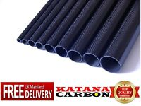 1 x 3k Carbon Fiber Tube OD 8mm x ID 6mm x Length 800mm (Roll Wrapped) Fibre