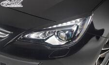 RDX Scheinwerferblenden OPEL Astra J GTC Böser Blick Blenden Spoiler Tuning
