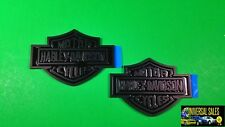 PAIR BLACK HARLEY DAVIDSON EMBLEMS BADGES FORD F-150 F-250 F-350 NAMEPLATES NEW