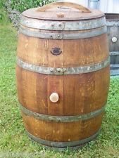 """225L Weinfass Regentonne, mit Deckel, aufgearbeitet und geölt Farbton """"Nussbaum"""""""