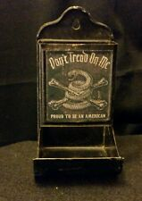 Vintage Style Don't Tread On MeTin Matchbox Holder....Artist Handcrafted