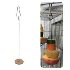 Parrots Birds Food Holder Support Stainless Steel Fruit Spear Stick Meat Skewer