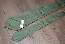 E. Marinella for Beretta Green Hunting Tie Made in Italy 100% Silk Birds Olive