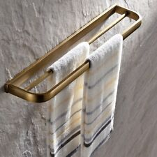 Antique Brass Wall Mounted Double Towel Bar Holder Bathroom Accessories