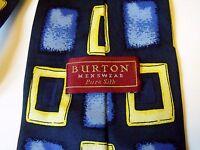 BURTON 100% PURE SILK BLUE MIX MENS TIE EXCELLENT CONDITION # 415