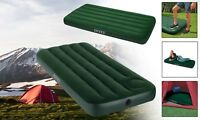 Twin Single Double Air Mattress Bed INTEX Downy Camping Indoor Outdoor Foot Pump