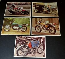 5 IMAGES CHOCOLAT POULAIN 1976  SERIE 6 CONNAISSANCES CYCLES ET MOTOS AGOSTINI